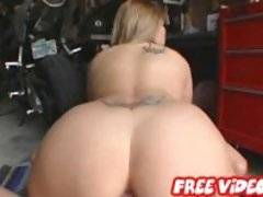 Sexy blonde babe pulls out that fine ass to give us a show in these movies