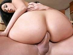Bootylicious lopez gets fucked her pussy pounded hard in the kitchen and her juicy ass pounded with a hard cock