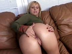 This blonde slut gets butt fucked while wearing a uniform