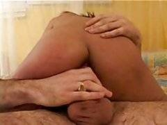 A sexy dark skinned skank takes a fat dick up her tight ass