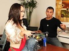 Super hot round ass mini skirt kristina went to the store to buy some jeans and gets her hot body fucked in the backoffice in these hot pussy fucking